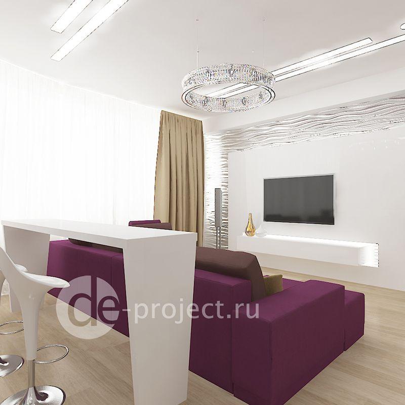 Дизайн-проект интерьера гостиной
