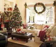 Новогодний декор интерьера гостиной